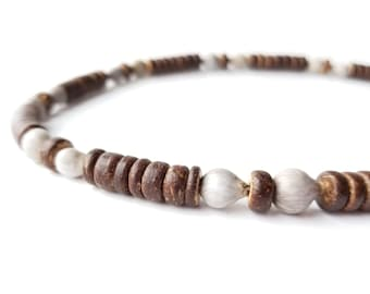 Men's jewelry - wooden necklace with home grown beads - Northwoods Jobs Tears