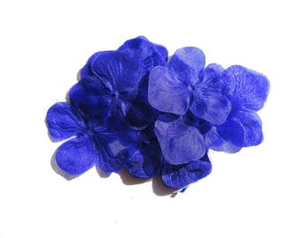 2 35 MM DIAMETER SHAPED PURPLE SILK HYDRANGEA FLOWERS