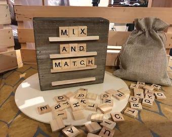 Barnwood Scrabble Board (6x6)