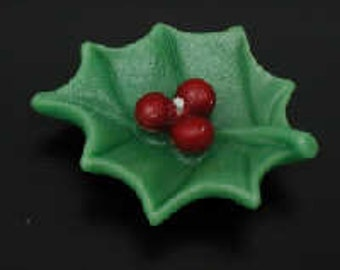 Rubber Holly Leaf Floating Candle Mold - Sale