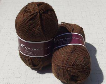 Ella RaeClassic Heathers Yarn, Brown Yarn, Destash