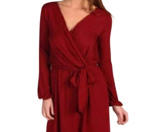 Vixen Red Casual Wrap Dress size Small