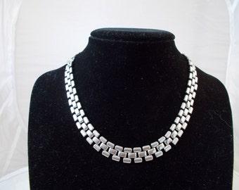Coro Silver Chain Link Necklace