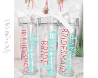 personalized cups, bridal shower gift, wedding gift, wedding cups, bridesmaids gift, Bachelorette gift, Bride gift