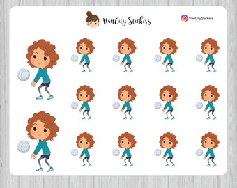 Volleyball Stickers, Volleyball Practice Stickers, Stacy Stickers