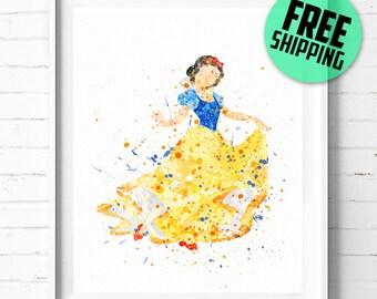 Snow White print, Disney print, Disney poster, Princess Snow White poster, Disney Princess print, Disney art print, wall art, kids decor 10