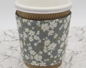 Reusable Reversible Fabric Coffee Cup Cosy Sleeve | Cup Cozy | Cup Sleeve | Fabric Cup Holder | Coffee Cup Cosy | Coffee Cup Sleeve