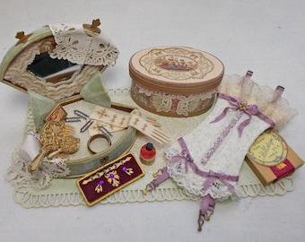 Dolls House Miniature Victorian Vintage Style Ladies Vignette No. 4