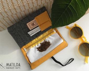 Tobacco Pouch - Spigato Yellow