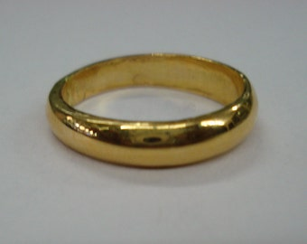 22kt gold ring plain band ring handmade gold ring solid gold ring