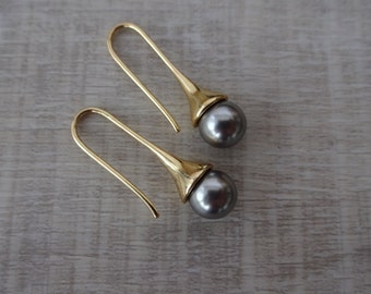 Gold Plated Freshwater Pearl Earrings