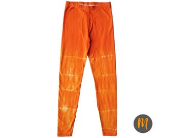 Sunset Orange Tie Dye Leggings