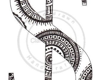 Alphabet Art Print ( Z and Symbols )