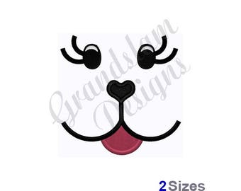Puppy Dog Doll Face - Machine Embroidery Design