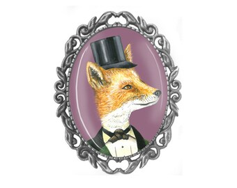 Fox Brooch - Foxy Lady Brooch - Gift for Women - Gift for her - Fox Art - Girlfriend Gift - Gifts for Girlfriend - Gift for Wife