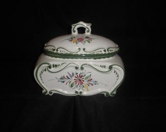 Covered Casserole Hand Painted Made in Portugal