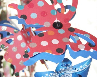 Butterfly Mobile With Beads and Buttons