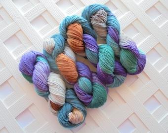 TELEMACHUS Hand-Dyed Yarn, Odyssey Yarn Collection, Fingering-Weight Yarn, Indie-Dyed Yarn, Merino Cashmere Silk, MCS, MSC, Luxury Sock Yarn
