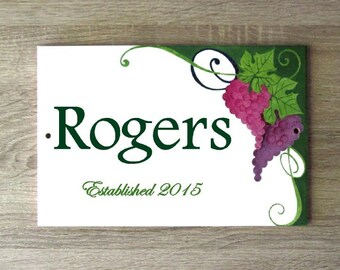 Personalized family name sign, Family established sign, Personalized name sign, Custom name sign, Anniversary gift