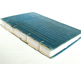 Antique Cover Journal - Coptic Journal - Blue 5 x 7.25 Journal by The Orange Windmill on Etsy 1664