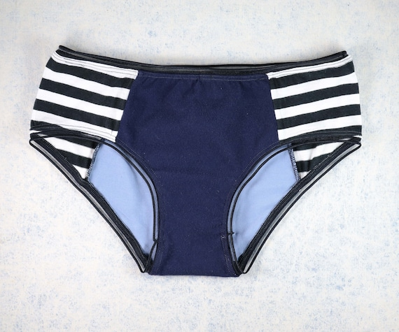 X-SMALL / SMALL - LOLA WideHipster cut, unique, upcycle and handmade panties