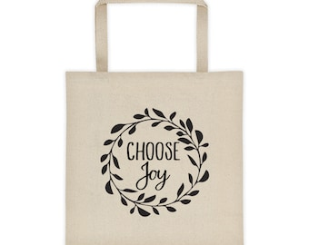 Sale**Choose Joy Tote Bag, Christian Graphic Tote Bag, Inspirational Tote Bag, Christian Gift for Friend, Friend Gift, Mom Birthday