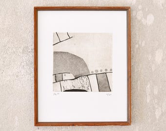 map 4 · original linocut on paper · handmade and signed · limited