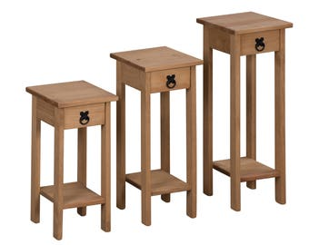 Corona set of 3 plant stands