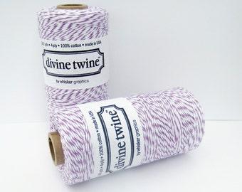 Purple Divine Twine, Plum Divine Twine, Full spool, 240 yards, Purple Cotton String, Purple Bakers Twine, Purple Cotton Twine, Craft String