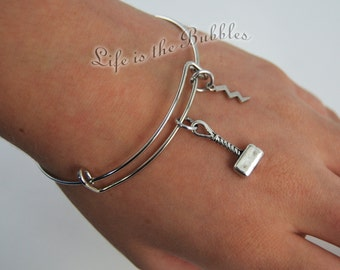 Thor Jewelry, Thor Bangle Bracelet, Thor's Hammer  Lightning Charms, God of Thunder, Avenger Jewelry, Marvel, Loki,  by Life is the Bubbles