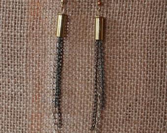Handmade 22 Caliber Brass Bullet Earrings for the Country Hunting Girl