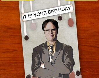 Dwight Schrute (The Office) Birthday Card [Digital Download]