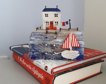 beautiful miniature nautical seaside scene.