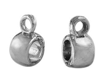 25 round bails silver Platinum ideal bd026 jewelry