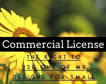 Commercial License *Pricing is for one product*