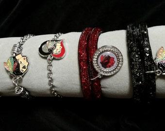 Chicago Blackhawks bracelet