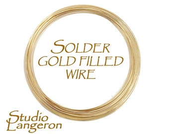 Solder wire yellow gold filled, solder gold filled, solder yellow gold filled, wire gold filled, solder, 14K gold filled - 4 inch (10 cm)