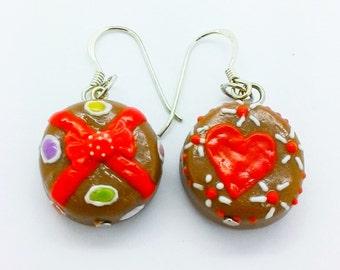 Bakery bijoux faits main en pâte polymère Earring alimentaire 1 paire,