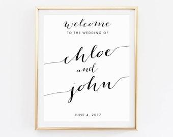 Wedding Welcome, Printable Wedding, Gold Wedding sign, Welcome to our Wedding, DIY, Custom Wedding Sign, Welcome wedding sign