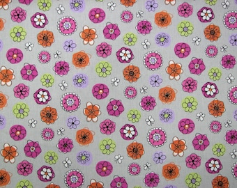 Kids fabric - colorful - and stylized flowers... Fabric width 160cm