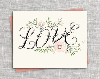 Love Printable Notecard Instant Download PDF