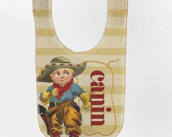 Cowboy Bib - Personalized Western Baby Bib