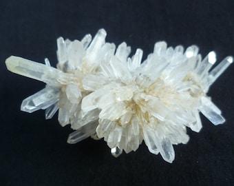 Natural Raw Quartz Cluster, White Yellow Quartz, Bulgarian minerals,