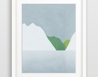Impression d'Art moderne, abstrait Wall Art Print, impression abstraite, Art scandinave, Art minimaliste, Art abstrait moderne, paysage abstrait