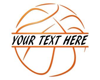 Basketball svg - Basketball monogram - Split monogram svg - SVG files for Cricut - Basketball clipart - Basketball cut file - SVG files