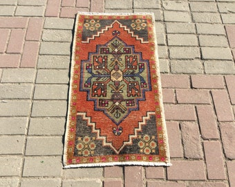 Vintage Turkish Oushak Rug, Oushak Rug 2x4, Turkish Rug Carpet, Carpet Rugs, Turkish Handmade Rugs, Carpet, Area Rugs, Vintage Carpet
