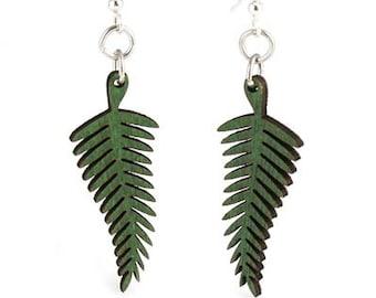 Fern Earrings - Cut Wood Earrings