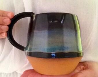 Handmade Pottery Mug, coffee mug, 16oz mug, stoneware mug, Manly mug, coffee cup, pottery mug, handmade mug.