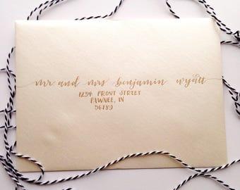 Custom Envelope Calligraphy | Wedding | Addressing | Leslie Style |