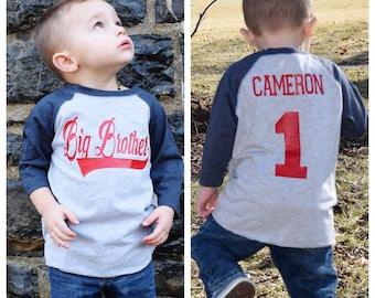 Baseball big brother shirt, big brother shirt,  promoted to big brother shirt, baseball shirt, pregnancy announcement shirt, new big brother